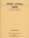 HAL LEONARD Cowell, Henry: Suite (violin & piano)