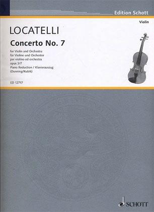 Locatelli, P.A.: Concerto Op.3 #7 in Bb major (violin & piano)