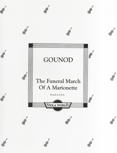 Gounod, Charles: The Funeral March of a Marionette (viola & piano)