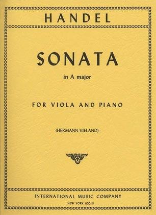 International Music Company Handel, G.F.: Sonata in A Major (viola & piano)