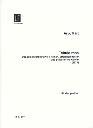 Carl Fischer Part, A.: (Score) Tabula Rasa (1977) (mixed ensemble)
