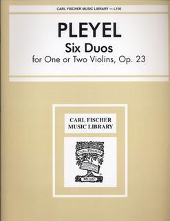Carl Fischer Pleyel, I.: Six Duos Op.23 (2 violins)