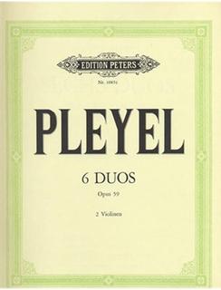 Pleyel, Ignaz: Six Duos, Op. 59 (2 violins)