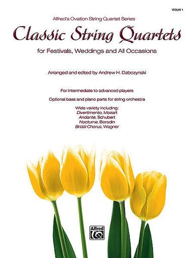 Alfred Music Dabczynski: Classic String Quartets for Festivals, Weddings, Occasions (violin 1)