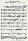 Carl Fischer Danson, Alan: Four Movements in a Jazz Idiom (violin & piano)