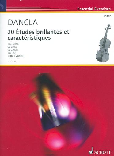 HAL LEONARD Dancla, C. (Birtel): 20 Etudes Brillantes et Caracteristiques, Op.73 (violin)