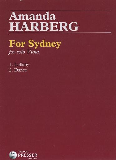 Carl Fischer Harberg, Amanda: For Sydney (viola solo)