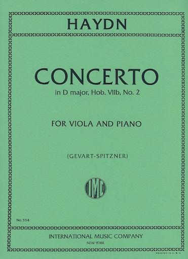 International Music Company Haydn (Gevart-Spitzner): Concerto in D Major, Hob.VIIb, No.2 - TRANSCRIBED (viola & piano)