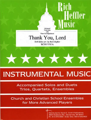 Heffler, R.: Thank You, Lord (viola & piano)