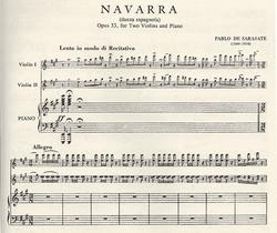 International Music Company Sarasate, Pablo: Navarra Op.33 (2 violins & piano)