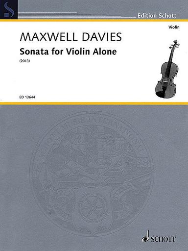 HAL LEONARD Davies, Maxwell : Sonata for Violin Alone