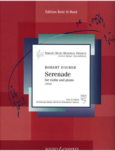 HAL LEONARD Dauber, R.: Serenade ''1942-Terezin Memorial Project'' (violin and piano)
