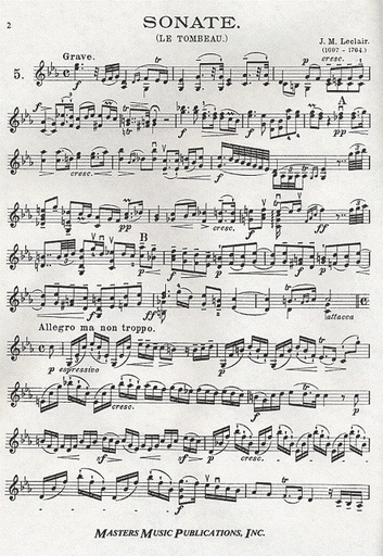 LudwigMasters David: The High School of the Violin 18th Century Sonatas Bk.2 (violin & piano)
