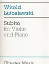 HAL LEONARD Lutoslawski, Witold: Subito (violin & piano)