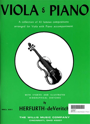 HAL LEONARD Herfurth, C.Paul: Viola & Piano 43 Famous Composers