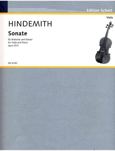 HAL LEONARD Hindemith, Paul: Sonata (1922) op. 25 no. 4 (viola & piano)
