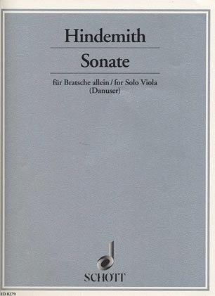 Hindemith, Paul: Solo Sonata 1937 (viola)