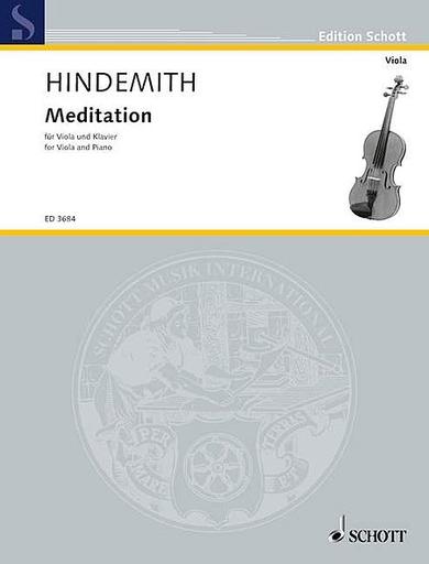 HAL LEONARD Hindemith, Paul: Meditation from Nobilissima Visione (viola & piano)