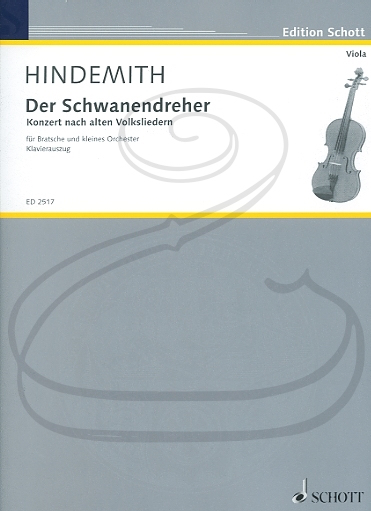 Schott Music Hindemith: Der Schwanendreher - Concerto in the style of Old Folksongs (viola & piano reduction) Schott
