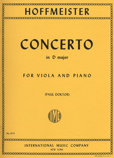 International Music Company Hoffmeister (Doktor): Concerto in D major (viola & piano) IMC