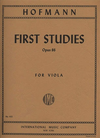 International Music Company Hofmann, Richard: First Studies (in the 1st position) Op.86 (viola)