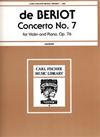 Carl Fischer De Beriot: Concerto Op.76 #7 ( violin & piano) FISCHER