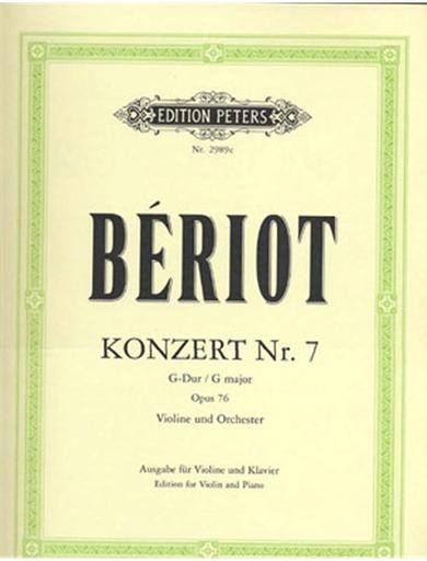 De Beriot, Ch.: Concerto Op.76 No.7 ( violin & piano)