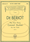 HAL LEONARD De Beriot (Berkley): The First Thirty Concert Studies, Op.123 (violin) Schirmer