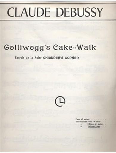HAL LEONARD Debussy, Claude: Golliwogg's Cake Walk (violin & piano)