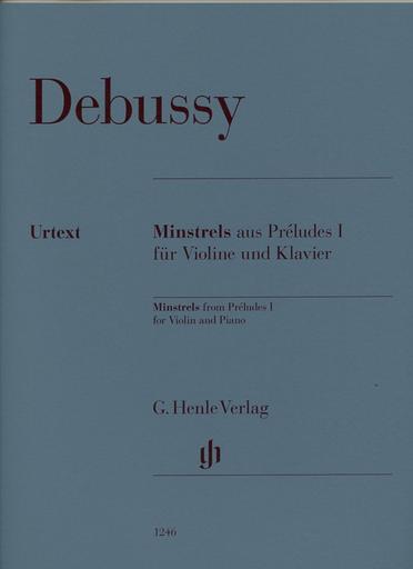 HAL LEONARD Debussy, C. (Kabisch/Turban, ed.): Minstrels from Preludes 1, urtext (violin & piano)