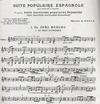 HAL LEONARD DeFalla, Manuel: Suite of Spanish Folksongs (violin & piano)