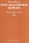 HAL LEONARD Marais, M: 5 Old French Dances (violla, or violin, or cello & piano)