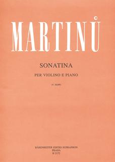 Barenreiter Martinu, Bohuslav: Sonatina fur Violin and Piano