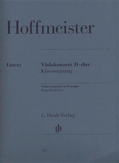 Hoffmeister, A. (Ronge, ed.): Concerto in D, urtext (viola & piano)