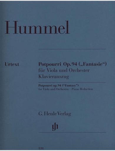 HAL LEONARD Hummel, J.N. (Gertsch/Steiner): Potpourri, Op.94, ''Fantasy'' - Urtext (viola, and piano reduction)