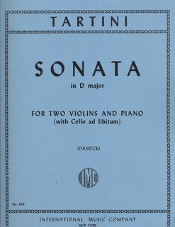International Music Company Tartini (Dameck): Sonata in D Major (2 violins & piano: cello ad.lib.)