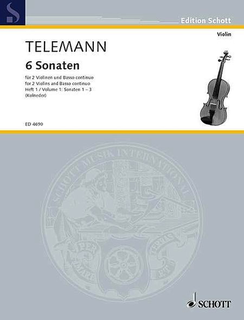 HAL LEONARD Telemann (Kolneder): 6 Sonatas, Vol.1, Nos.1-3 (2 violins & basso continuo)