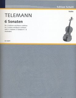 HAL LEONARD Telemann (Kolneder): 6 Sonatas, Vol.2, Nos.4-6 (2 violins & basso continuo)