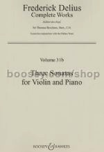 HAL LEONARD Delius, F.: Three Sonatas, Volume 31b (Violin & Piano)