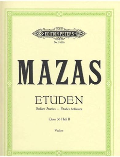 Mazas, Jacques (Davisson): Etudes brillantes, Op.36 No.2 (violin)