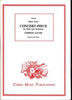 Jacob, Gordon: Concert-Piece for Viola and Orchestra (viola & piano)
