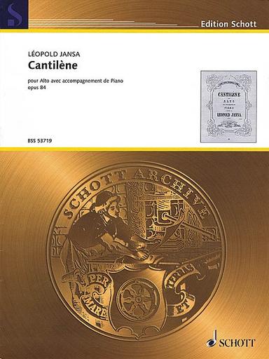 HAL LEONARD Jansa, Leopold: Cantilene, op. 84 (viola & piano)
