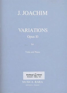 Joachim, Joseph: Variations (viola & piano)