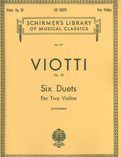 HAL LEONARD Viotti, G.B.: Six Duets for Two Violins Op.20 SCHIRMER