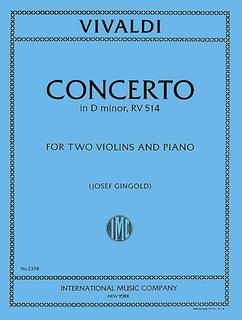 International Music Company Vivaldi, Antonio: Concerto in d minor F.I. No.100 (flute, violin & piano)