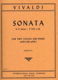 International Music Company Vivaldi, Antonio: Sonata in e minor F.13#18 (2 violins & piano, cello ad lib)