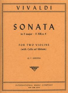 International Music Company Vivaldi, Antonio: Sonata in F Op.13 #4 (2 violins & piano w/ cello ad libitum)