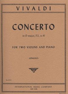 International Music Company Vivaldi, Antonio: Concerto in D F.I.#41 (2 violins & piano)