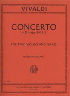 International Music Company Vivaldi, Antonio: Concerto in D RV 513 (2 violins & piano)