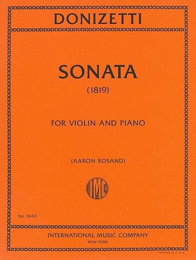 International Music Company Donizetti, Gaetano: Sonata, 1819 (violin & piano)